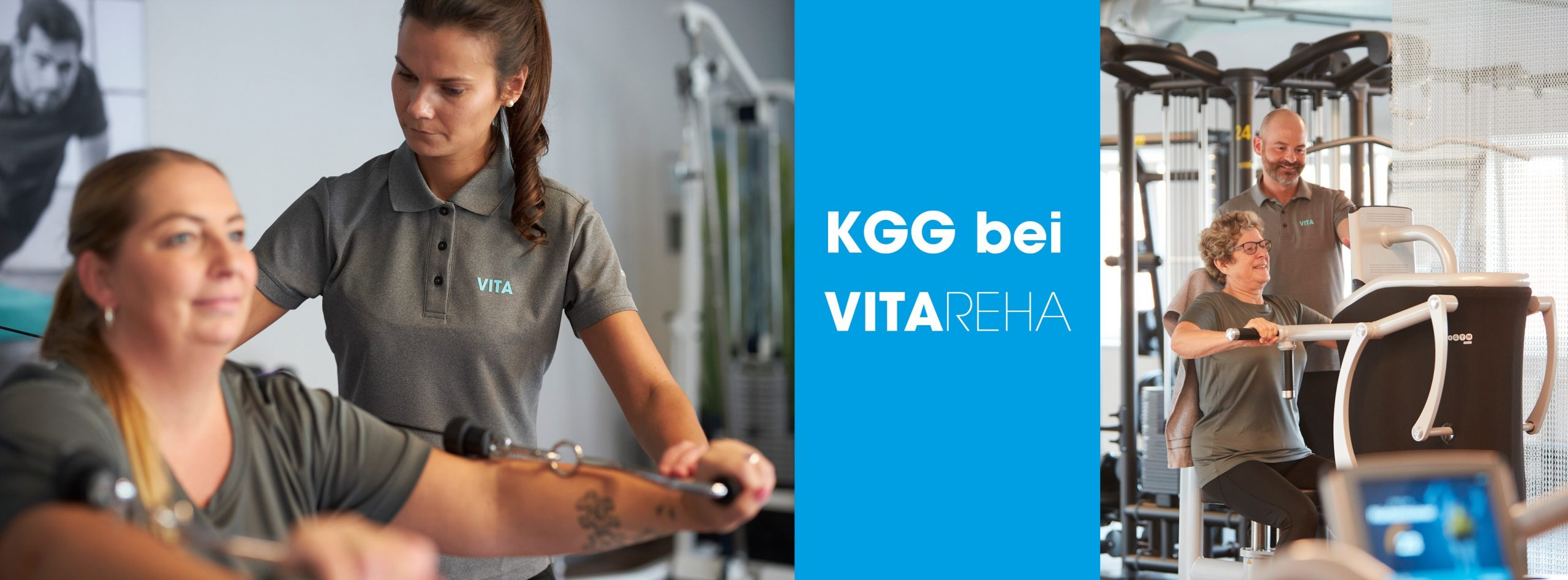 Bild zeigt Physiotherapeuten und Patienten bei der Behandlung KGG